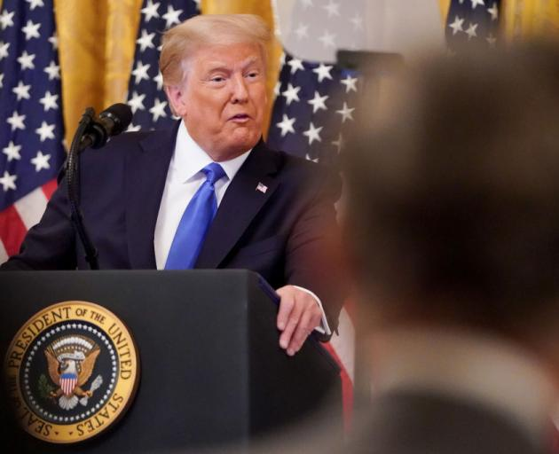 President Donald Trump made the comments at a White House event honouring  Bay of Pigs veterans...