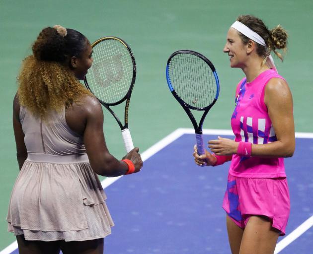Serena Williams congratulates Victoria Azarenka after the match. Photo: Getty Images