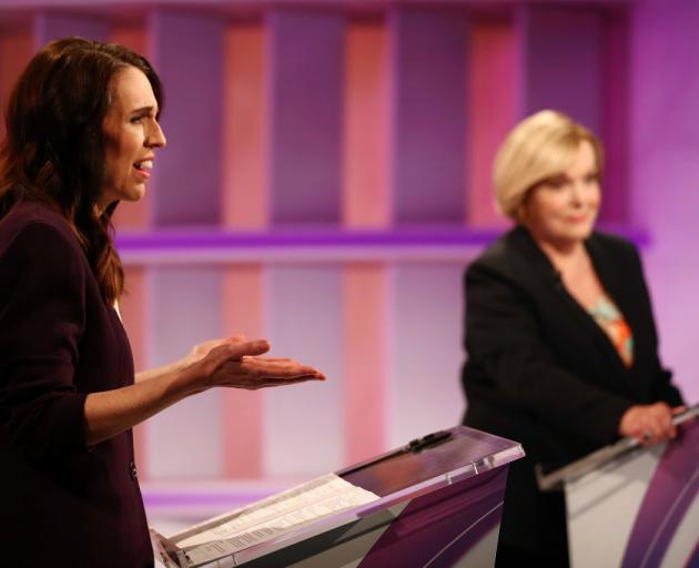 Labour leader Jacinda Ardern (left) and National's Judith Collins on Tuesday's debate. Photo:...
