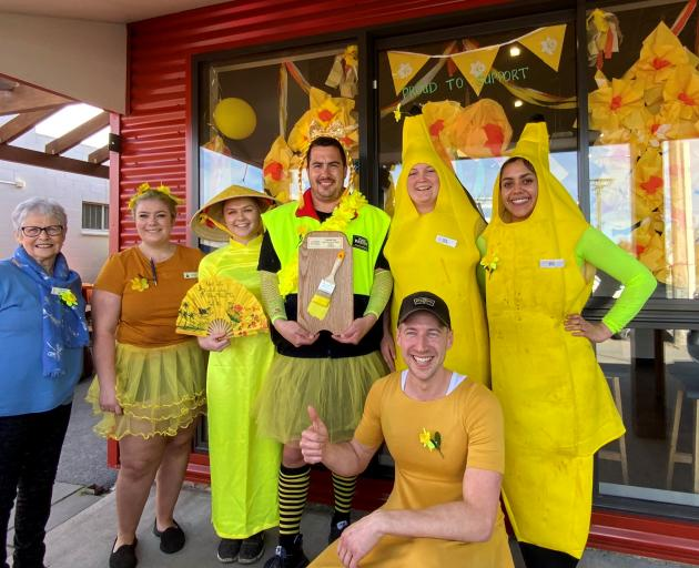 Darfield Bakery won the 'paint the town yellow' initiative for the township.