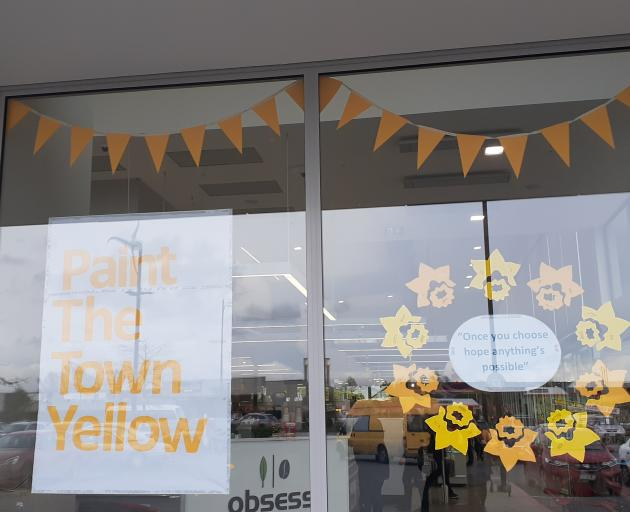 Lincoln New World's display to mark Daffodil Day. Photo: Supplied