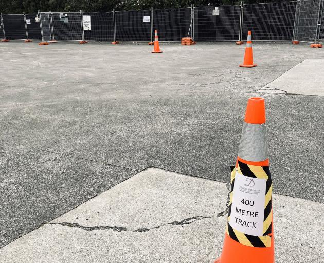 The exercise yard in the car park at the Distinction Hamilton Hotel and Conference Centre. Photo:...