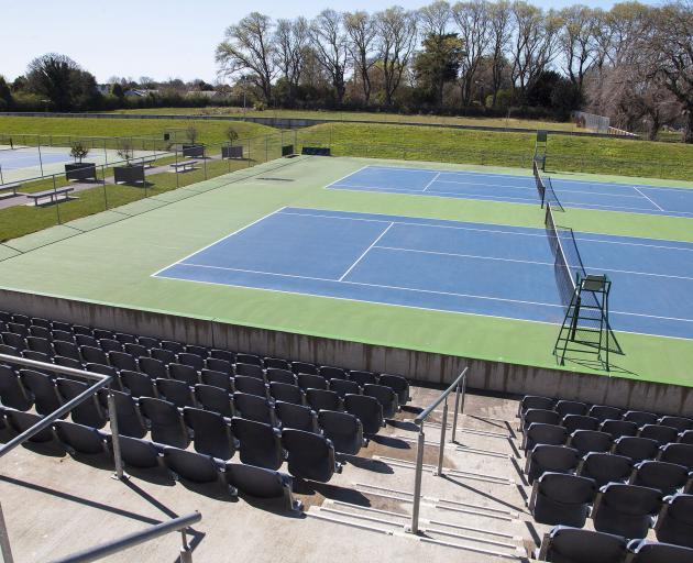 Centre court at Wilding Park as it looks now. Photo: Geoff Sloan
