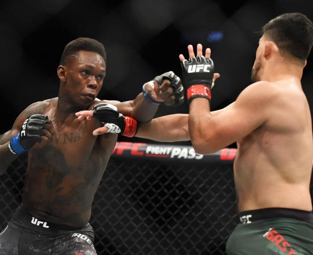 Israel Adesanya during his win over Kevin Gastelum in Atlanta. Photo: Getty Images