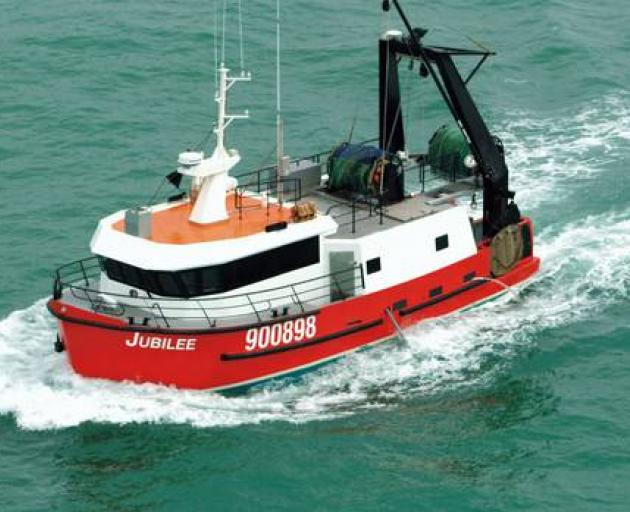 The 90-tonne, 16m fishing vessel Jubilee sank after sending a distress signal in the early hours of October 18, 2015. Photo: Suppled via NZ Herald