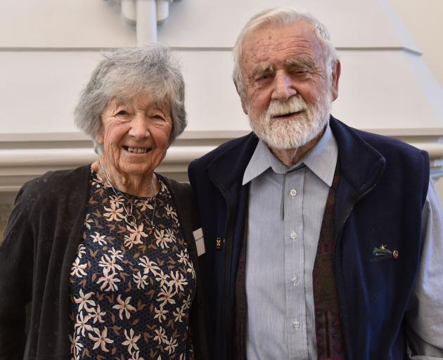 Prof Sir Alan Mark and Patricia Lady Mark at the University of Otago yesterday. PHOTO: GREGOR...