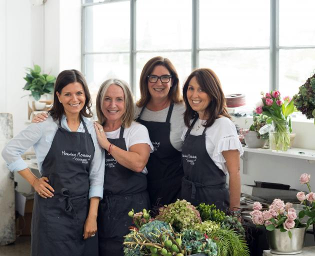 Monday Morning Cooking Club is (from left) Lisa Goldberg, Merelyn Frank Chalmers, Natanya Eskin...