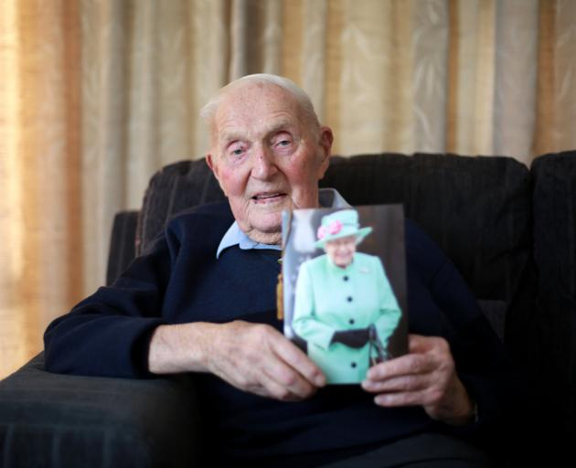 Tom Garbutt, of Oamaru, celebrated his 100th birthday on Sunday. PHOTO: REBECCA RYAN