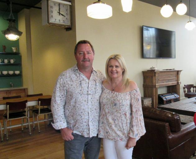 Auckland couple Phillip and Jacqui McNicholl, pictured after the completion of the Poshtel last...
