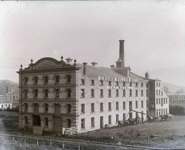 This image of Meeks Mill was taken in about 1918. A large extension was added to the western end...