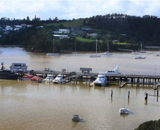 The German-flagged vessel is being held by Customs at a quarantine dock in Opua. Photo: NZ Herald