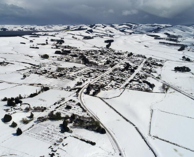 The small South Otago town of Owaka yesterday. Photo: Stephen Jaquiery