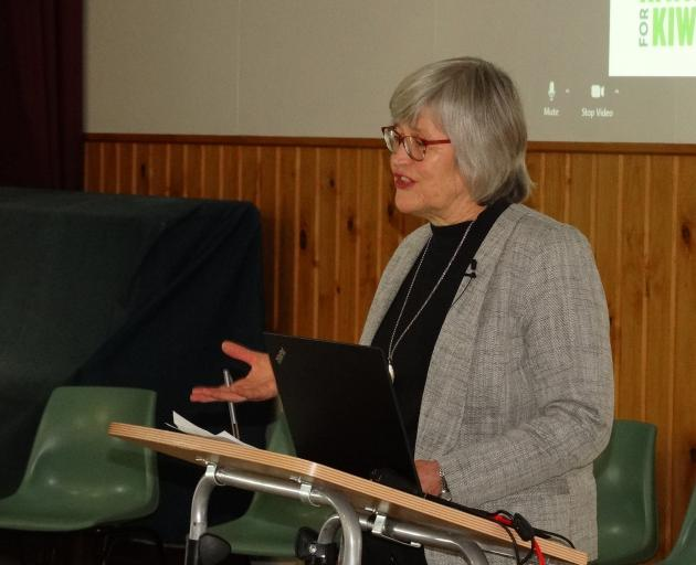 Conservation Minister Eugenie Sage announces new funding for kiwi conservation projects at a...