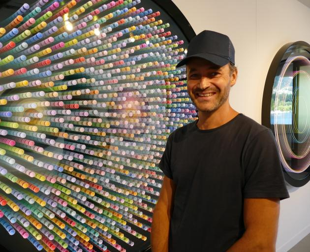 Wellington-based artist Max Patte with Zoantharia. PHOTO: TRACEY ROXBURGH