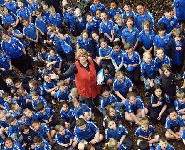 Carisbrook teacher Ann Swan is retiring today after 46 years in education. PHOTO: PETER MCINTOSH