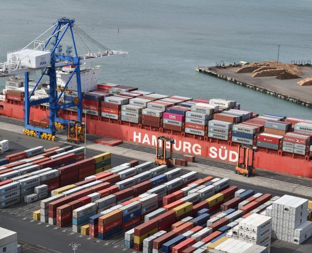 Only one crane was able to work on the Rio ship in port yesterday because Port Otago's other...