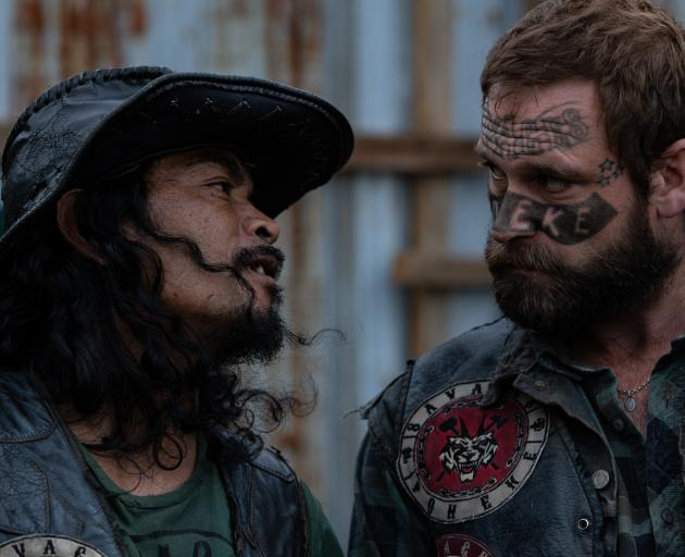 Alex Raivaru (left), as Tug, and actor Jake Ryan, as Damage, in a scene from Savage. Photo:...