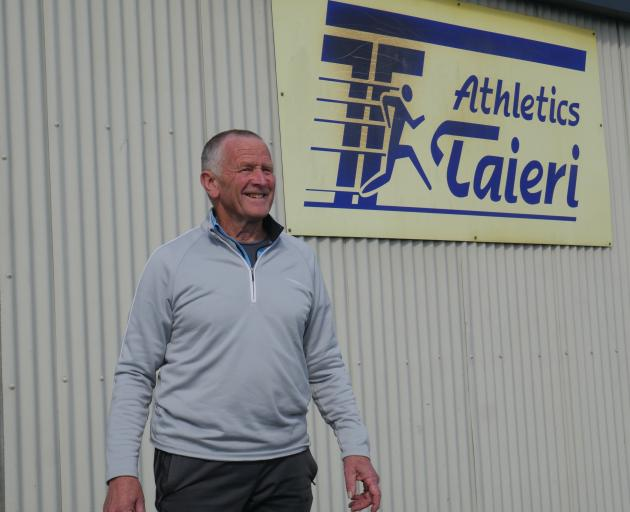 Athletics Taieri convener Rob Urquhart outside the clubrooms at Memorial Park. PHOTO: JESSICA WILSON