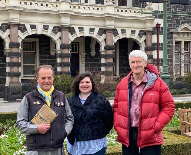 Dunedin Abrahamic Interfaith Group members (from left) Paul Gourlie, Emily Schwartz and Greg...