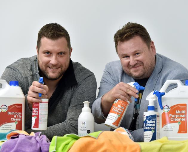 Andrew Wills (left) and Chris Mackle have founded a cleaning business that will return all...