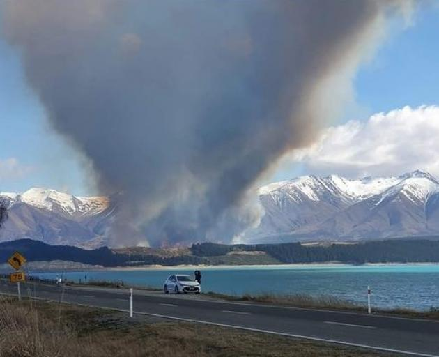 Crews were alerted to the blaze about 11.25am. Photo: Richard Mountain