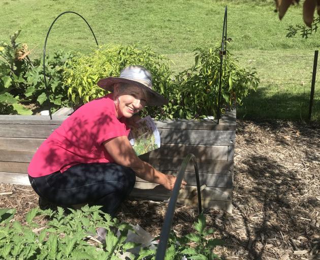Sophie Thomson in her garden in the Adelaide hills. PHOTOS: GILLIAN VINE