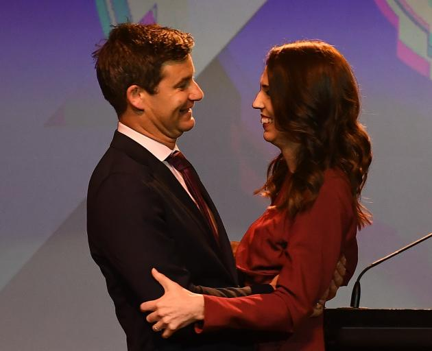 Prime Minister Jacinda Ardern and fiance Clarke Gayford. PHOTO: GETTY IMAGES