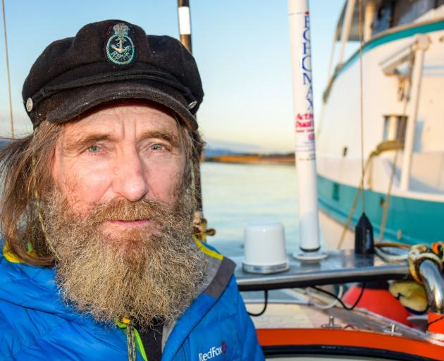 Russian adventurer Fedor Konyukhov at Cape Horn, following his 154-day row from Port Chalmers to...