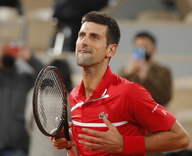 Novak Djokovic says he'll be firing on all cylinders on Sunday. Photo: Reuters