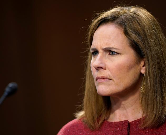 Supreme Court nominee Judge Amy Coney Barrett. Photo: Reuters