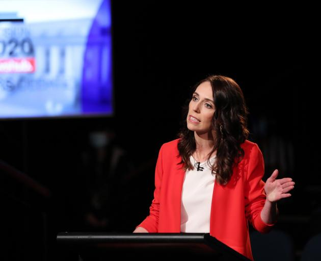 Labour Party leader Jacinda Ardern goes head to head with National Party leader Judith Collins in...