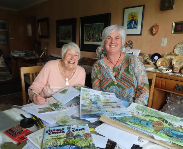 Angela Cushnie and Barbara Jaine have worked together on a special project. Photo: Ashburton Courier
