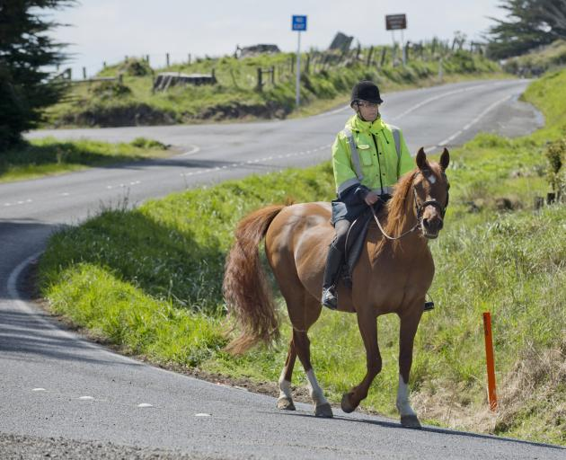Camp Rd resident Lynn Samuels regularly rides her horse in Pukehiki and agrees with a proposed...