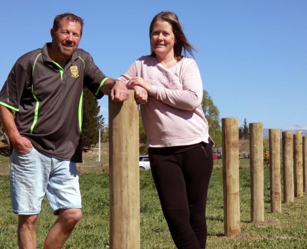 Kristy and Shane Bruce, of Alexandra, hope to open a retail store and arena on their property.PHOTO: SIMON HENDERSON