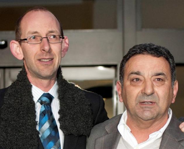 David Bain (L) and Joe Karam. Photo: ODT files