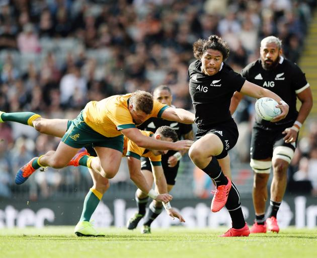 Caleb Clarke was superb in his first start for the All Blacks. Photo: Getty Images