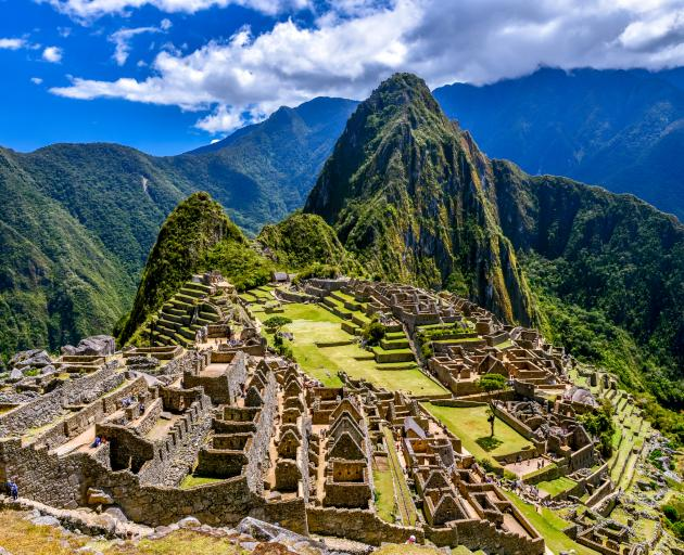The ruins of the citadel  Machu Picchu, built more than 500 years ago. Photo: Getty Images