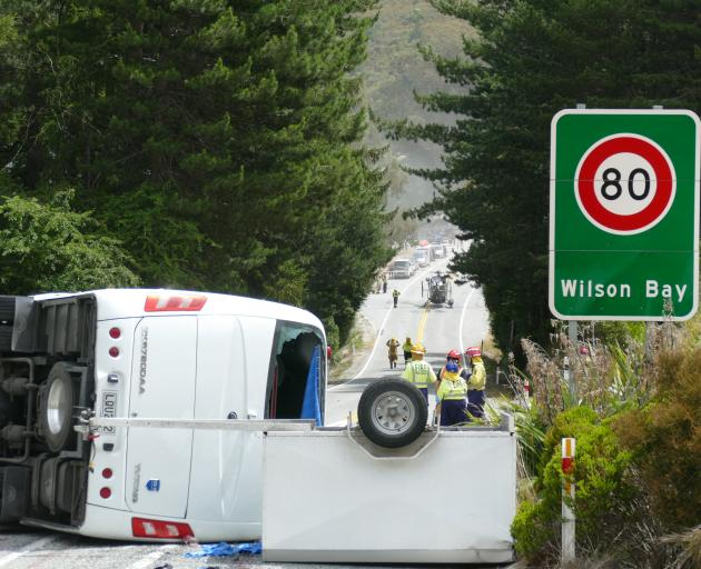 The crash happened on the Queenstown-Glenorchy Rd in January. Photo: Tracey Roxburgh