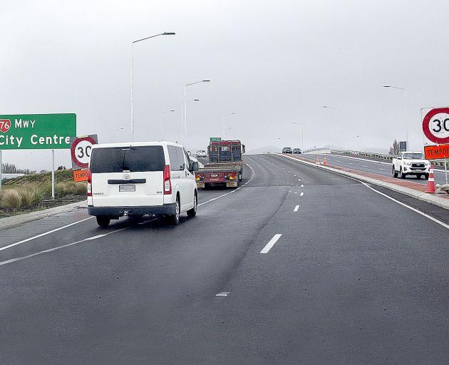 The Southern Motorway on-ramp. Photo: Geoff Sloan