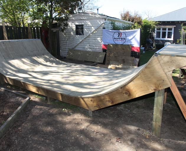 Jonty Abbott's plan to build a mini skateboard ramp on his driveway transformed into a fully...