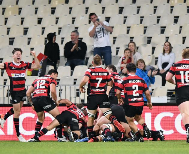 Canterbury create history with the Mitre 10 Cup's first golden point victory, over Wellington at...