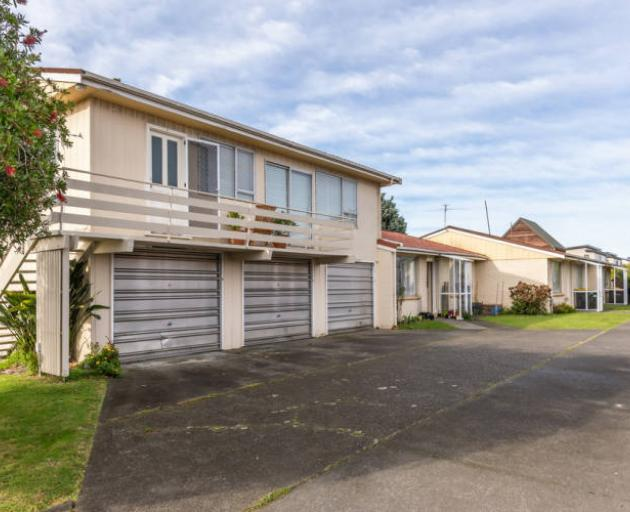 This block of four two-bedroom flats in Dallas St, Riccarton, is ripe for redevelopment after...