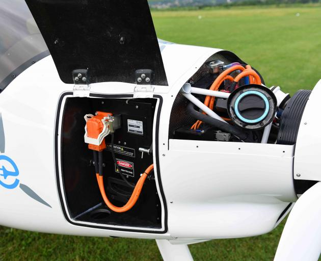 The two-seater Alpha Electro can fly for at least one hour before its battery needs recharging....