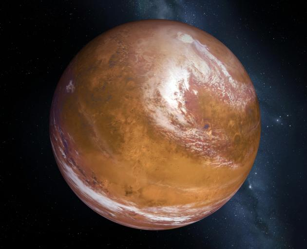 Mars will be directly on the opposite side of Earth from the Sun, an event that occurs every two...