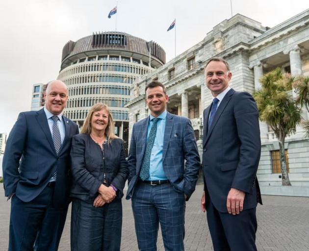 New National MPs (from left) Christopher Luxon (Botany), Penny Simmonds (Invercargill), Joseph...