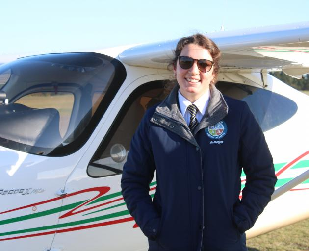 New Zealand Airline Academy instructor Ellie McIlraith is right at home in the Tecnum P-208....