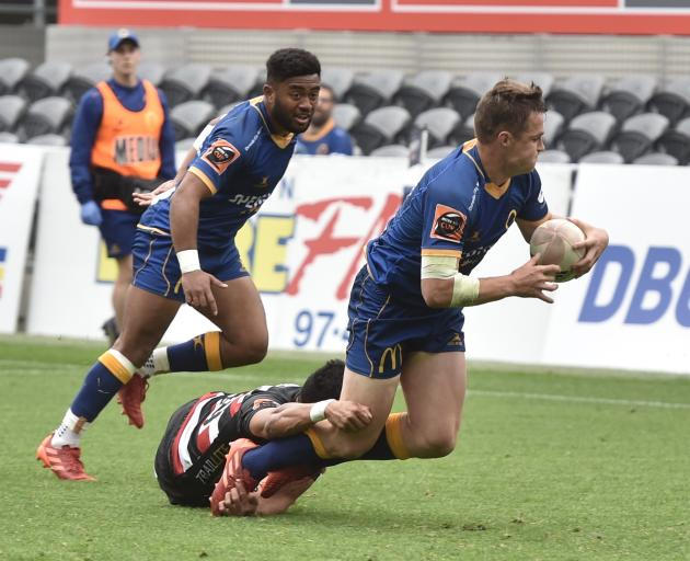 Otago had come out of the blocks quickly and scored three tries in the first half. Photo: Peter McIntosh
