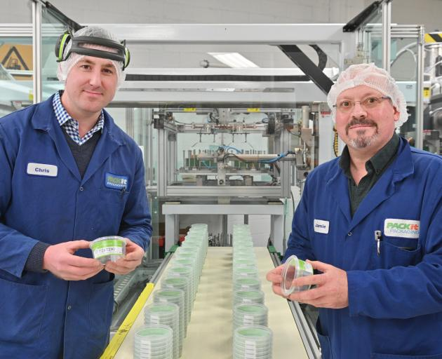 Packit Packaging operations manager Chris McBride (left) and general manager Jamie Hodgins...