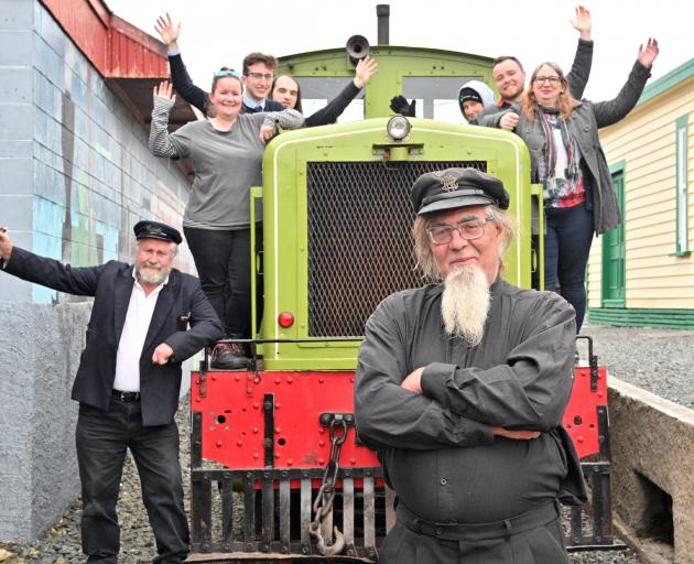 The Ocean Beach Railway is reopening this weekend. Driver Ted Leach (foreground) with volunteer...