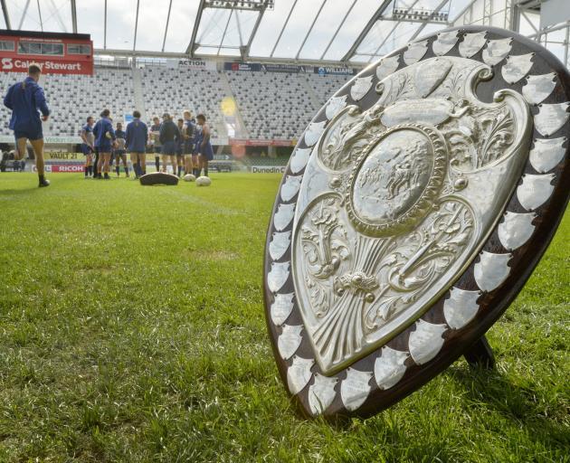The Otago rugby team train at Forsyth Barr Stadium ahead of their final Ranfurly Shield defence...